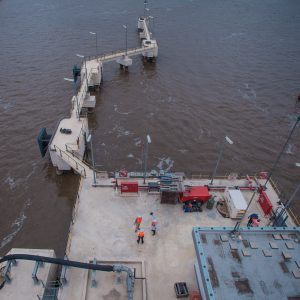 Bird Eye View Of The Apapa Jetty Which Is Capable Of Delivering 3 Million Tonnes Of Products A Year