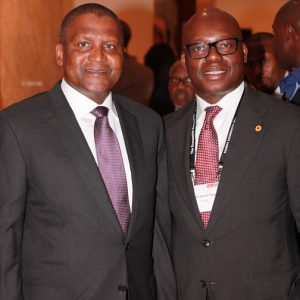 Wale Tinubu And Aliko Dangote At The Economist 2016