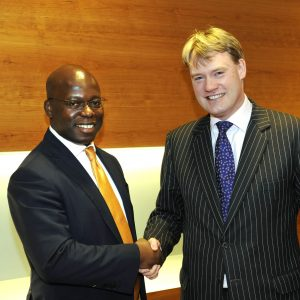 Wale Tinubu & Simon Ashby-Rudd, Global Head, Oil & Gas, Standard Bank