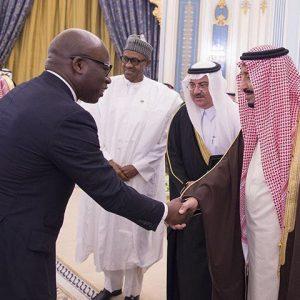 Wale Tinubu & King Salman-Bin-Abdulaziz-Al-Saud, King Of Saudi Arabia
